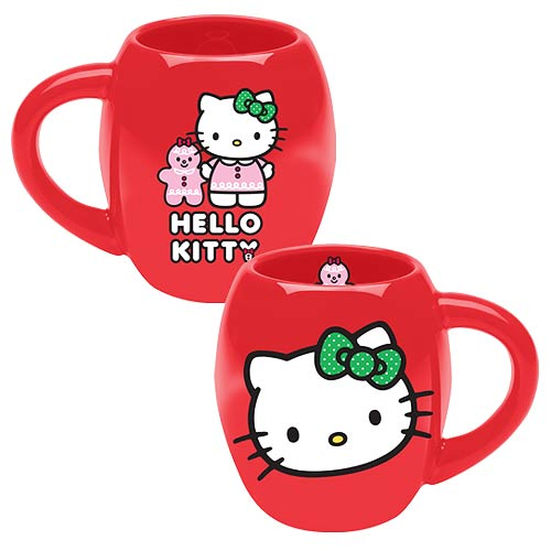Hello Kitty Holiday 18 oz. Oval Ceramic Mug