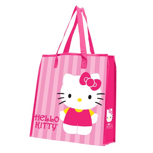 Hello Kitty Stripes Large Recycled Shopper Tote
