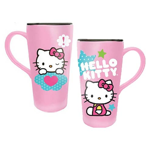 Hello Kitty Stars 20 oz. Ceramic Travel Mug