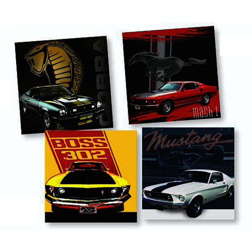 Ford Mustang Glass Coaster 4-Pack