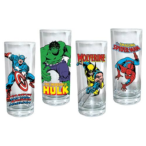 Marvel Heroes Glasses 4-Pack
