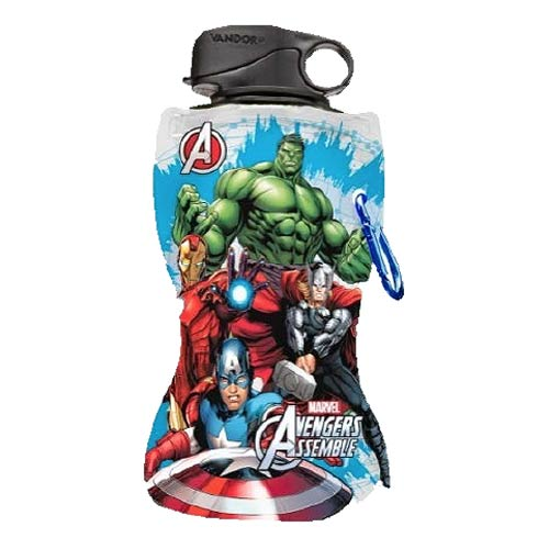 Avengers Assemble Marvel 12 oz. Collapsible Water Bottle