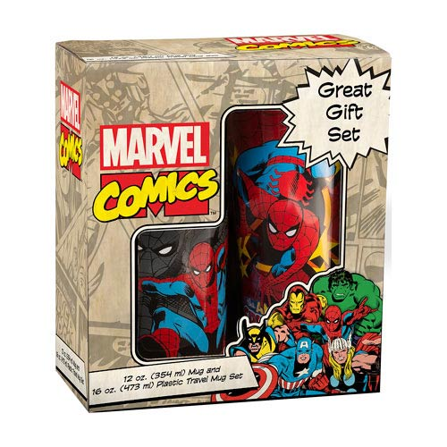 Spider-Man Ceramic Mug and Plastic Travel Mug Set