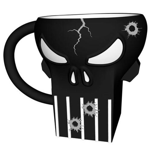 Punisher 20 oz. Sculpted Ceramic Mug
