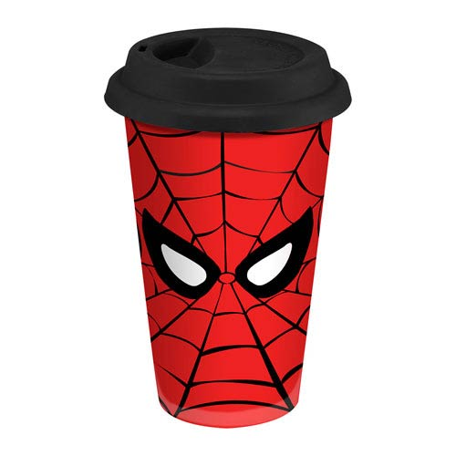 Spider-Man 12 oz. Double Wall Ceramic Travel Mug