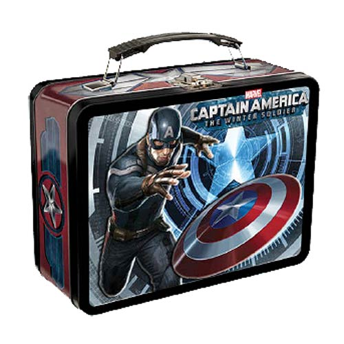 Captain America Winter Soldier Marvel Large Tin Tote