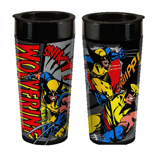Wolverine Marvel 16 oz. Plastic Travel Mug