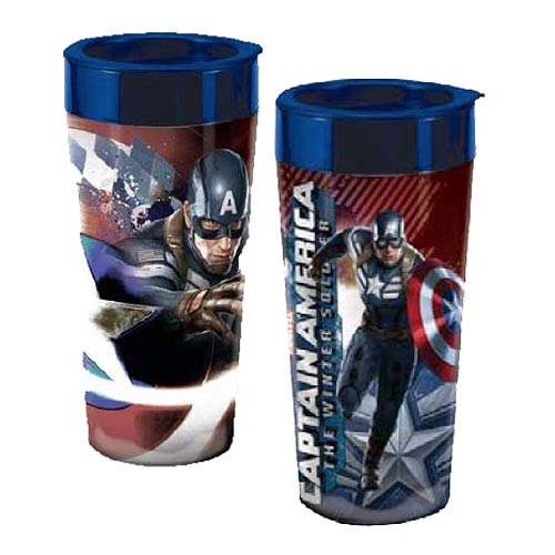 Captain America Winter Soldier Marvel Acrylic Travel Mug
