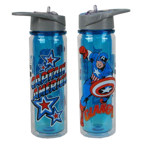 Captain America Marvel 18 oz. Tritan Water Bottle