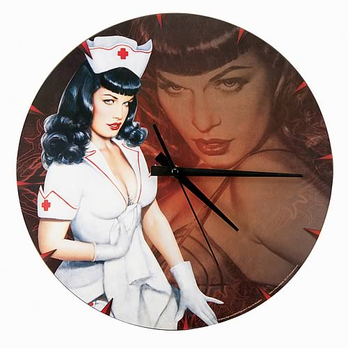 Bettie Page Wall Clock