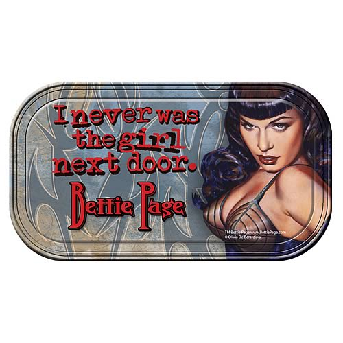 Bettie Page Girl Never The Girl Next Door Mini Tin