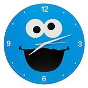 Sesame Street Cookie Monster Wooden Wall Clock