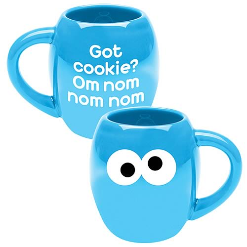 Sesame Street Cookie Monster Om Nom Nom Oval Mug