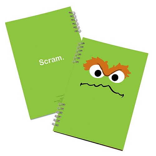 Sesame Street Oscar the Grouch Lenticular Notebook