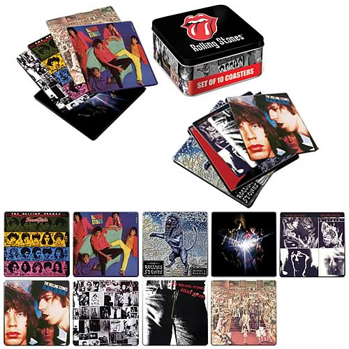 The Rolling Stones Coaster Set with Tin Storage Box