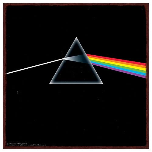 pink floyd dark side of the moon heavy gauge metal sign vandor pink floyd signs at. Black Bedroom Furniture Sets. Home Design Ideas