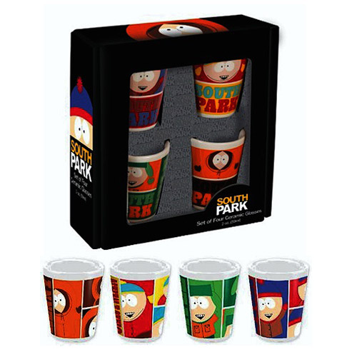 South Park Ceramic Shot Glass 4-Pack