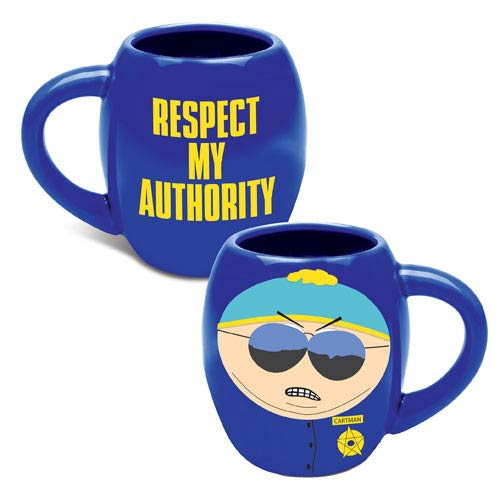 South Park Cartman Respect My Authority 18 oz. Oval Mug