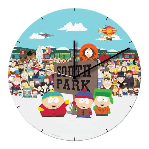 South Park 13 1/2-Inch Cordless Wood Wall Clock