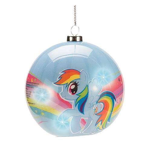 My Little Pony Rainbow Dash Light-Up Ball Ornament
