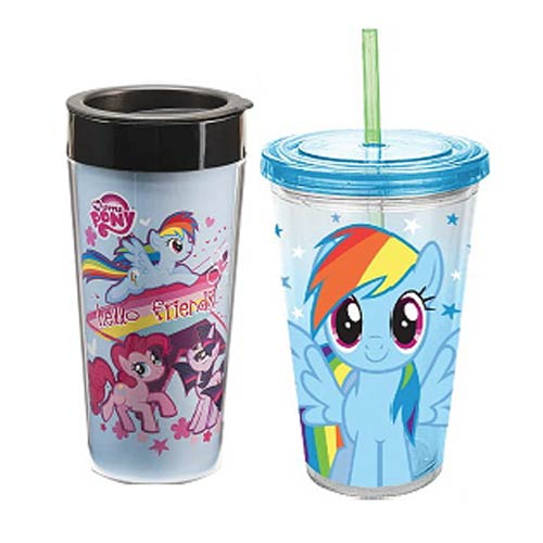 My Little Pony Plastic Travel Mug and Acrylic Cup Set