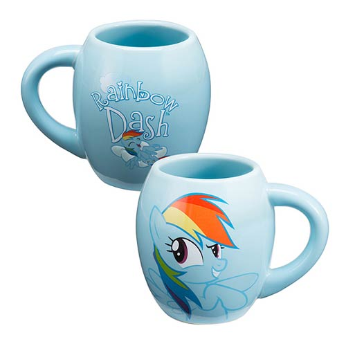 My Little Pony Rainbow Dash 18 oz. Oval Ceramic Mug