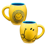 Mr. Men Mr. Happy 18 oz. Oval Ceramic Mug