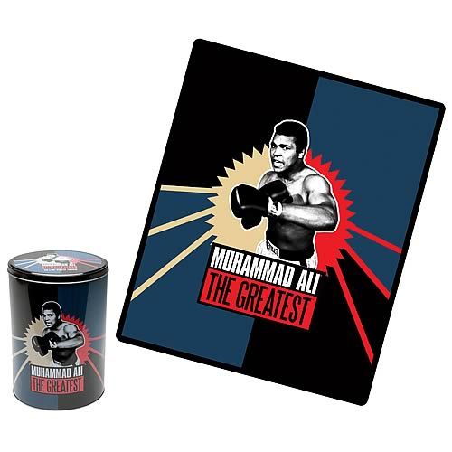 Muhammad Ali The Greatest Fleece Throw with Tin