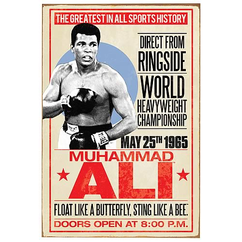 Muhammad Ali Event Poster Large Tin Sign