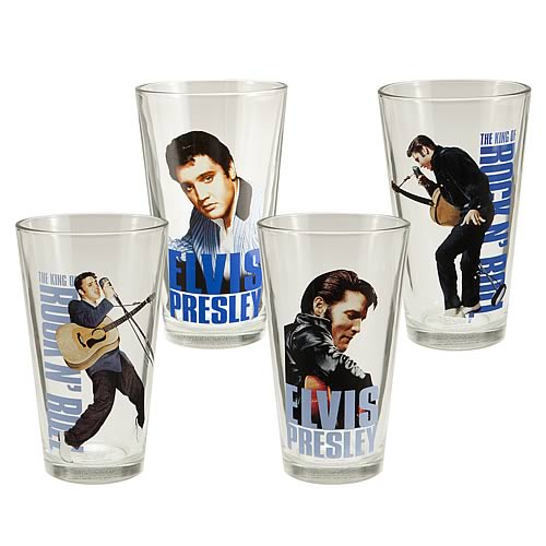 Elvis Presley Glasses 4-Pack