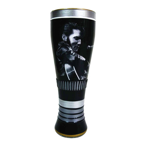 Elvis Presley King of Rock and Roll Hand Painted Glass