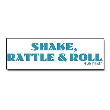 Elvis Presley Shake Rattle and Roll Wall Decal