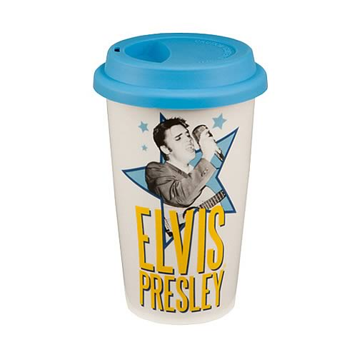 Elvis Presley Double Wall Travel Mug