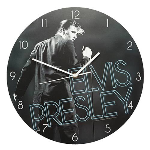 Elvis Presley Wood Wall Clock