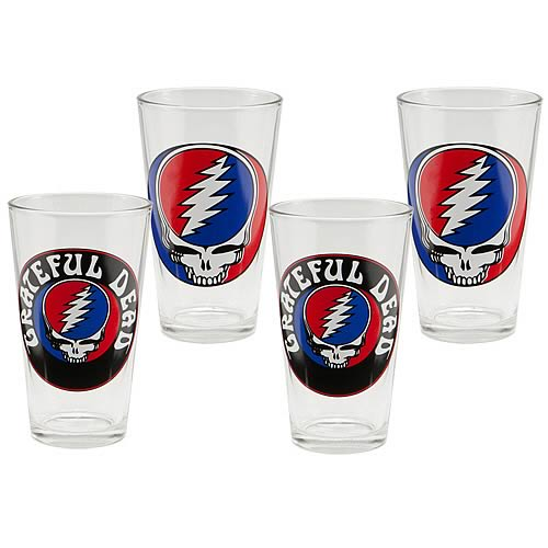 Grateful Dead Glasses 4-Pack