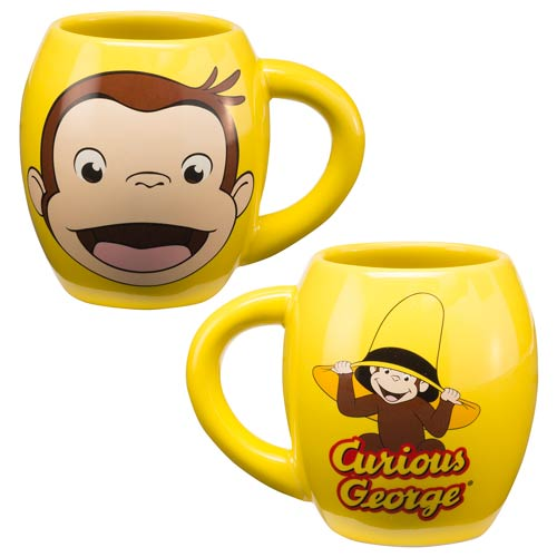 Curious George 18 oz. Ceramic Oval Mug