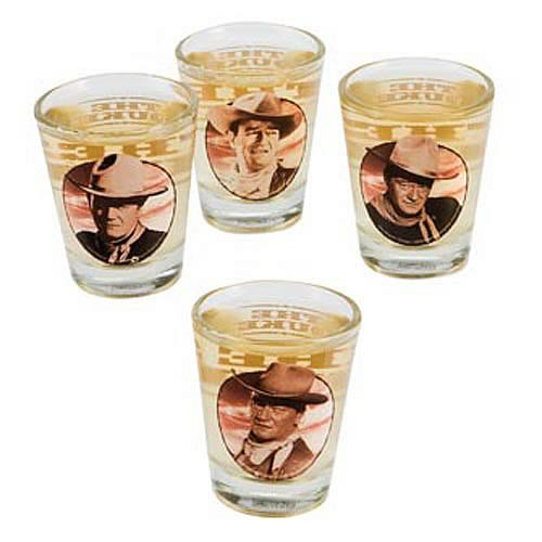 John Wayne Shot Glass 4-Pack
