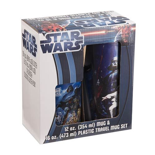 Star Wars 12 oz. Mug and 16 oz. Plastic Mug Set 2-Pack
