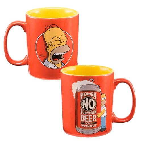 The Simpsons Homer No Function 14 oz. Ceramic Mug