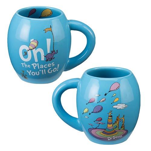 Dr. Seuss Oh the Places You'll Go 18 oz. Oval Ceramic Mug