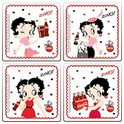 Betty Boop Coca-Cola Coaster 4-Pack