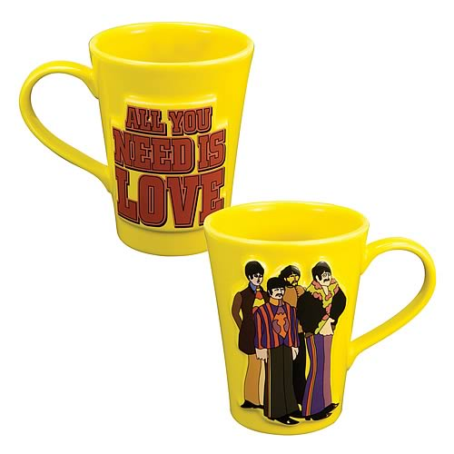 The Beatles All You Need Is Love Sculpted Mug