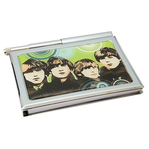 The Beatles Metal Notepad with Pen