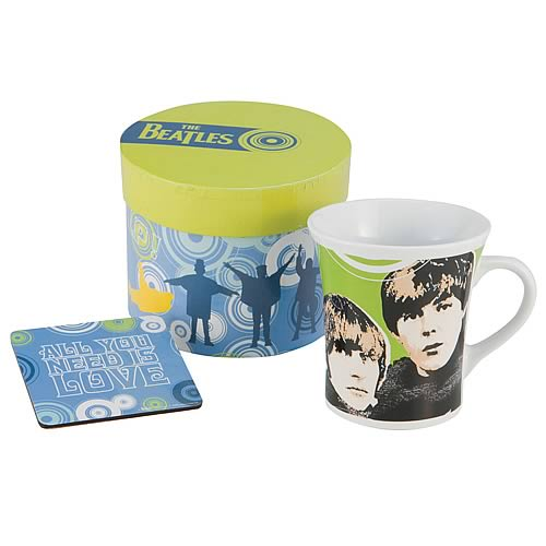 The Beatles All You Need Is Love Mug and Coaster Set