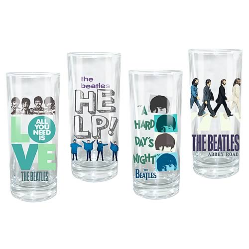 Beatles Theme Glasses 4-Pack