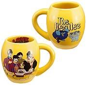 Beatles Yellow Submarine All You Need Ceramic Oval Mug