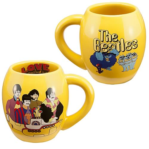 Beatles Yellow Submarine All You Need Ceramic Oval Mug