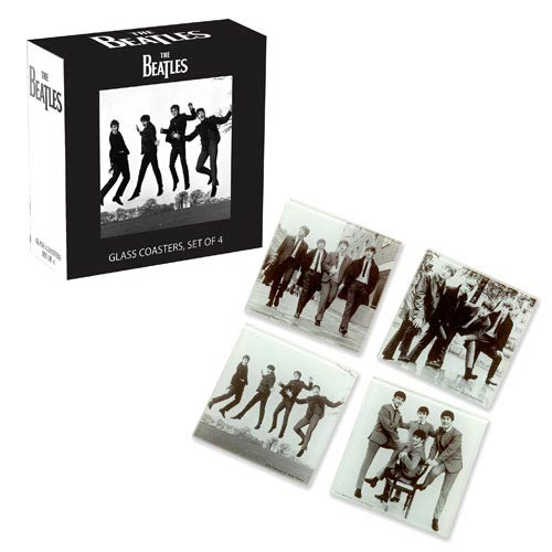 The Beatles Glass Coaster Set 4-Pack