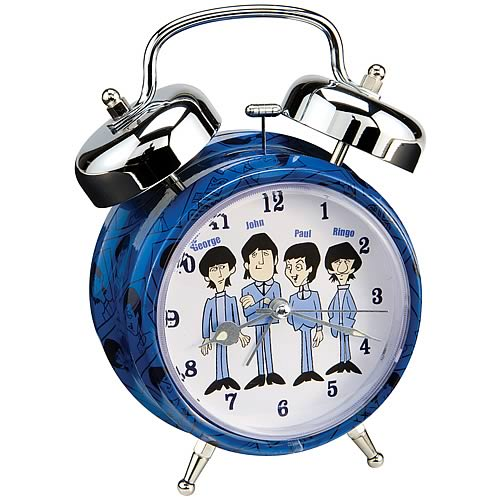The Beatles Cartoon Twin Bell Alarm Clock