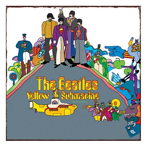 The Beatles Yellow Submarine Heavy Gauge Metal Sign